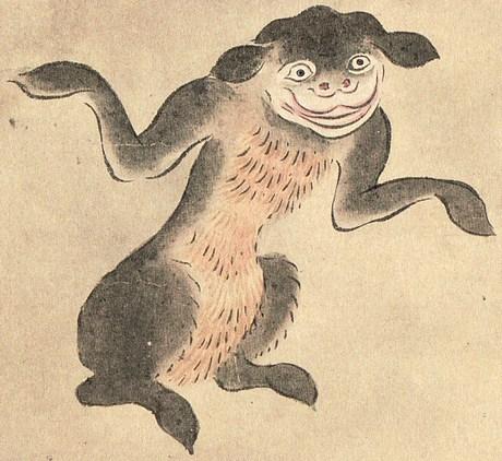 佐脇嵩之『百怪図巻』より「山びこ」(Wikipediaより)