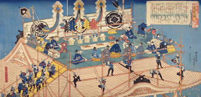 大工上棟之図 画:香蝶楼国貞 国会図書館デジタルコレクション