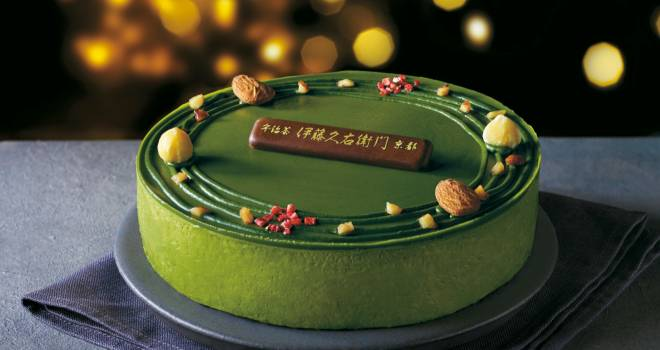 京都・伊藤久右衛門とセブンイレブンがコラボしたクリスマスケーキ「宇治抹茶ヘーゼルショコラ」が登場!