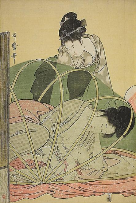 幌蚊帳 画:喜多川歌麿
