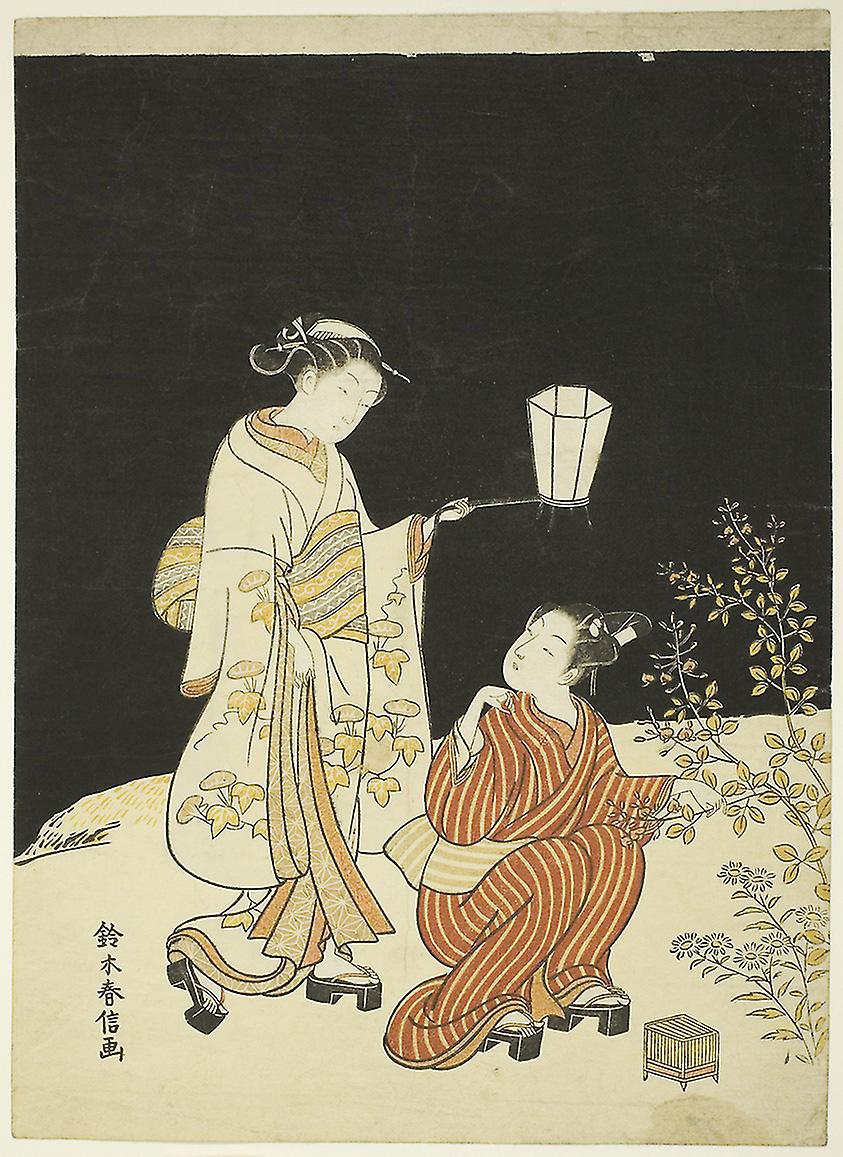 夜の萩 画:鈴木春信 シカゴ美術館所蔵