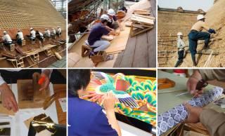 左官、茅葺、畳など…日本の木造建造物を受け継ぐための伝統技術17件がユネスコ無形文化遺産に登録勧告!
