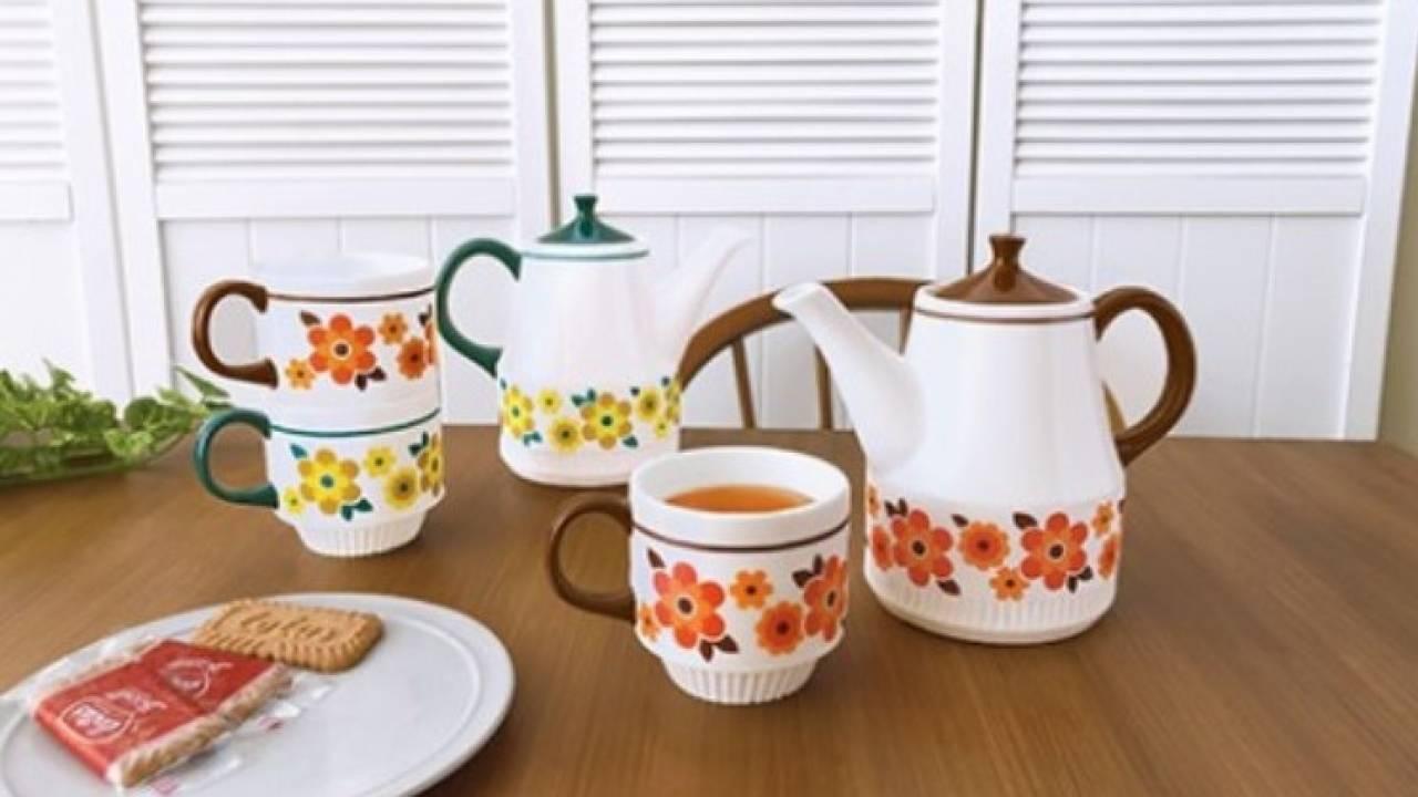 懐かしさ感じる素敵デザイン♪昭和レトロな花柄のティーポット&マグカップ「kokopele」