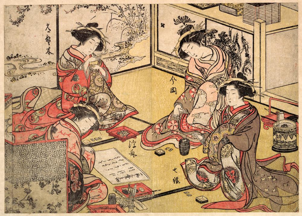 画:勝川春章 メトロポリタン美術館所蔵