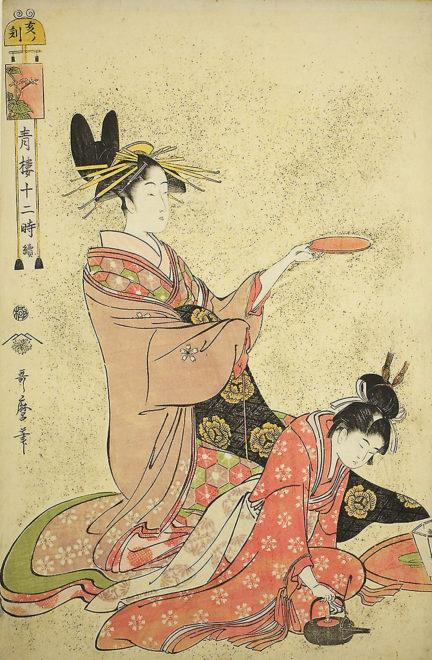 「青楼十二時/亥の刻」画:喜多川歌麿シカゴ美術館所蔵
