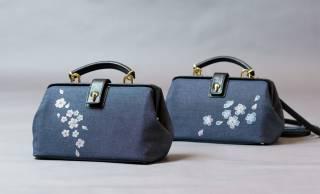 着物の職人が京友禅染めで染める「ミニドクターショルダーバッグ」登場。昔のお医者さんの診療かばんから着想
