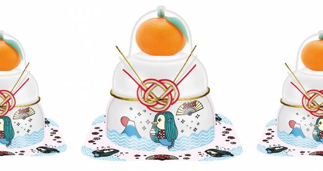 今年はサトウの鏡餅からアマビエさまがデザインされたキュートな鏡餅小飾りが登場!