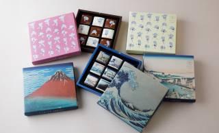 ISHIYA「恋するチョコレート」から葛飾北斎の冨嶽三十六景と北斎漫画パッケージが新発売