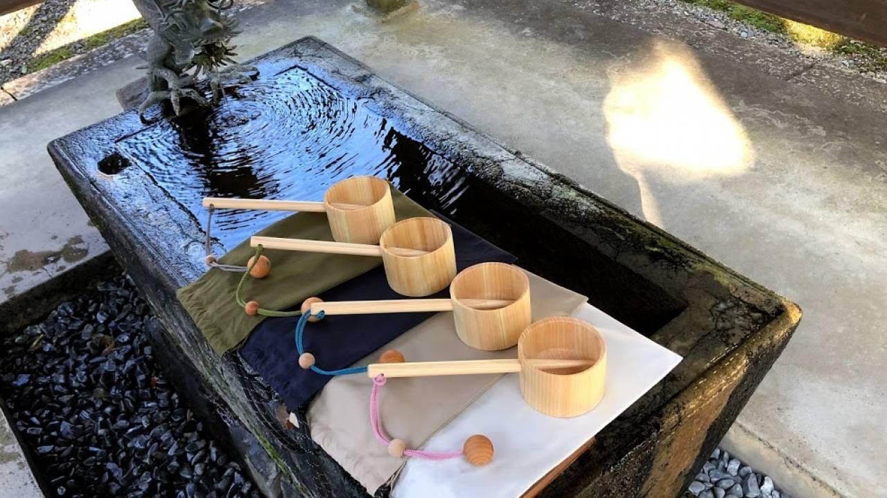 神社参拝における手水の文化を守りたい!持ち運びやすい自分専用のマイ柄杓「HISHAKUん」