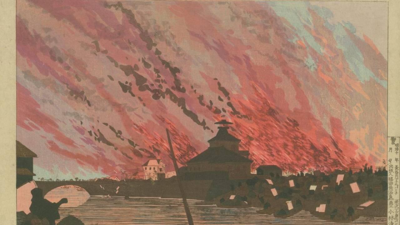火事をスケッチし戻ると自宅が全焼…刀を筆に持ち替えた浮世絵師・小林清親が描いた東京が美しい