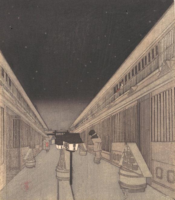 夜の吉原 画:歌川国貞(三代豊国)メトロポリタン美術館所蔵