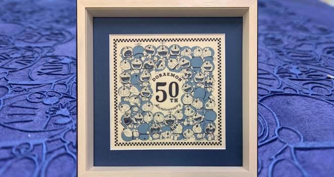 いろんな表情のドラちゃん♪ドラえもん浮世絵の新作「浮世絵木版画・50th Anniversary 50 poses」