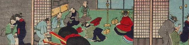 当世十二時之内「子之刻」画:歌川芳虎(部分) 東京都立図書館所蔵