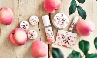 和コスメブランド「まかないこすめ」からミッキー&ミニーデザインの桃の香りシリーズが登場