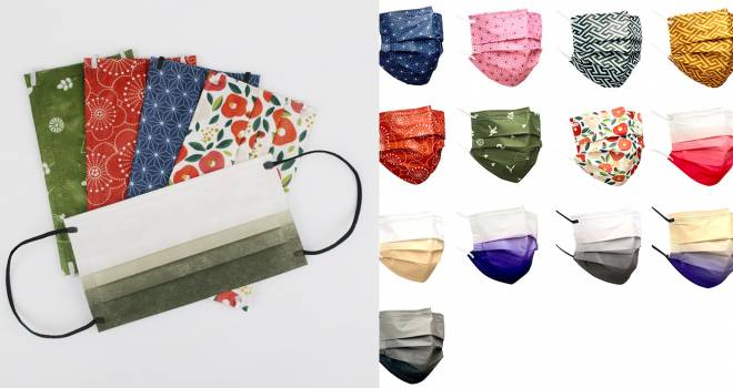 全13種類。日本古来の和柄や色使いがステキな不織布マスクが新発売
