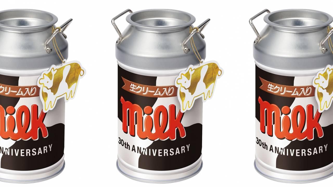 これは可愛いぞ♡チロルチョコ〈ミルク〉の30周年を記念した牛柄模様の「ミルク缶」が新発売