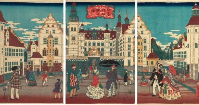 着物のアメリカ人に中国風のロンドン橋?江戸の人々の異国好奇心を満たした「横浜絵」とは