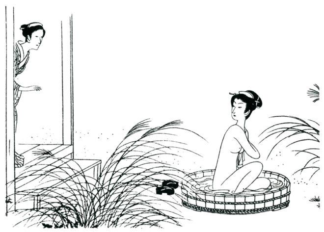 おせん 画:小村雪岱 出典:600dpiパブリックドメイン美術館