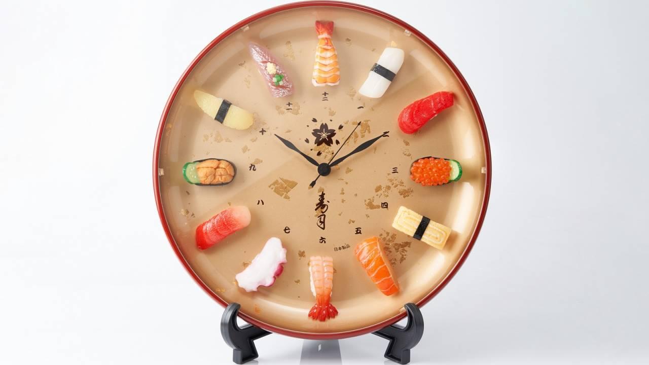 職人技でリアル再現された食品サンプルを文字盤に使用した「寿司時計プレミアム」が登場