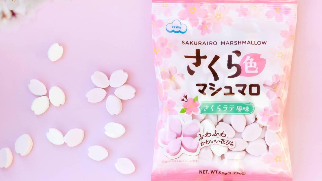 さくらの花びらの形をした「さくら色マシュマロ」が可愛い♡スイーツのトッピング&アレンジに!