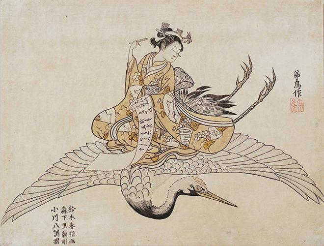 やつし費長房 画:鈴木春信 大英図書館所蔵