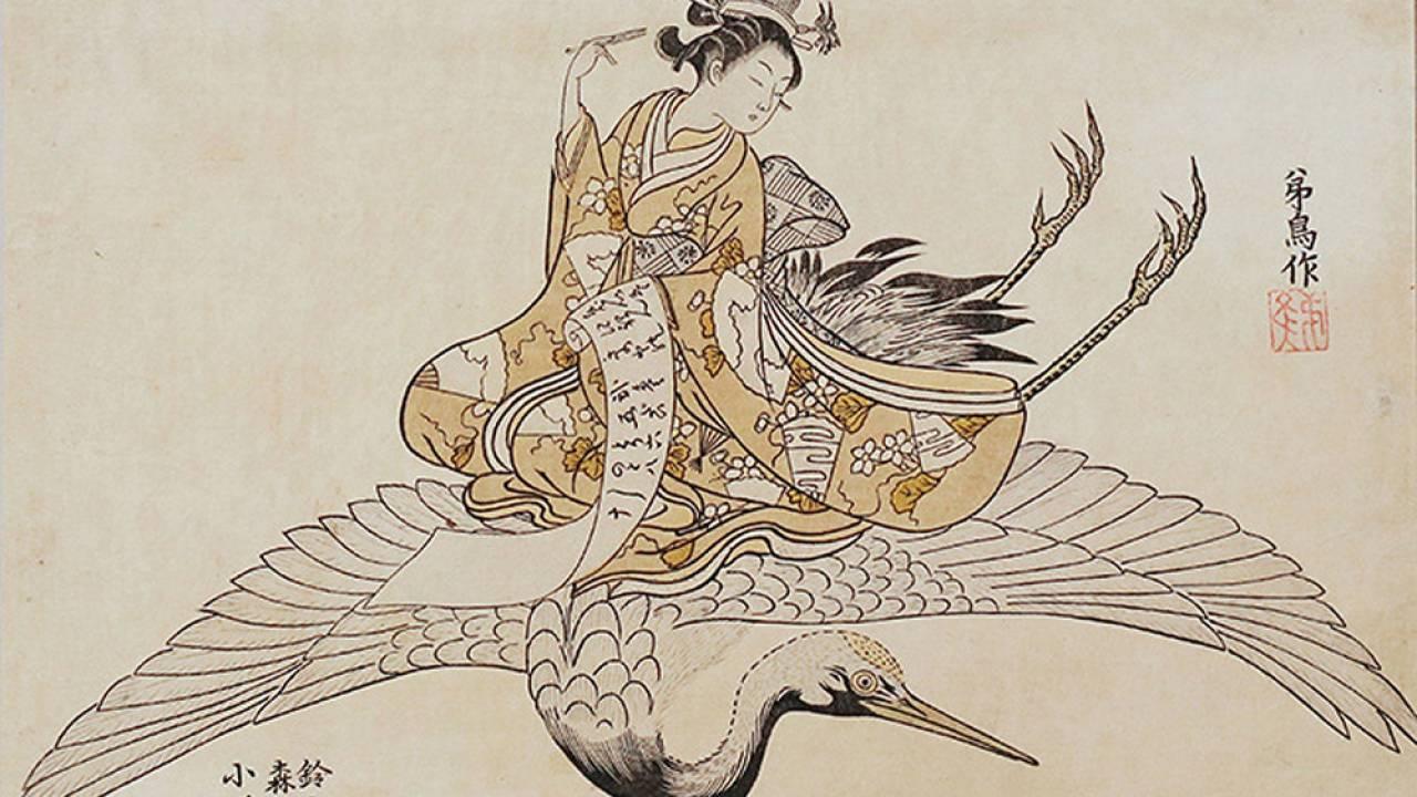 浮世絵師・鈴木春信は何故か「空を飛ぶ女」を描くのがお好き
