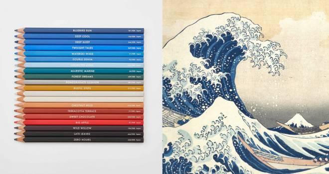 北斎ファン必見!葛飾北斎『冨嶽三十六景』をイメージして20色を厳選した『HOKUSAI色えんぴつ』発売