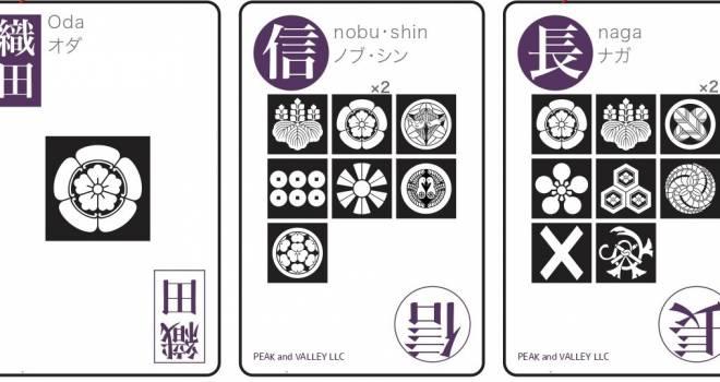 戦国武将 総勢80人!漢字と家紋のパズル型 戦国武将カードゲームが登場