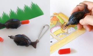 お弁当についてくるあの「醤油鯛」がコンパクトで可愛いペンになっちゃいました!