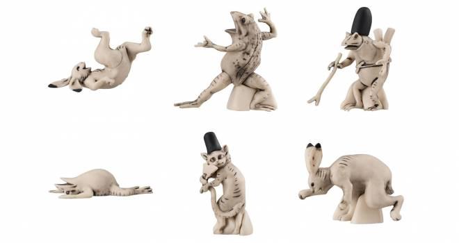 躍動感たまんない♡国宝「鳥獣戯画」の擬人化したウサギやカエルがミニフィギュアに
