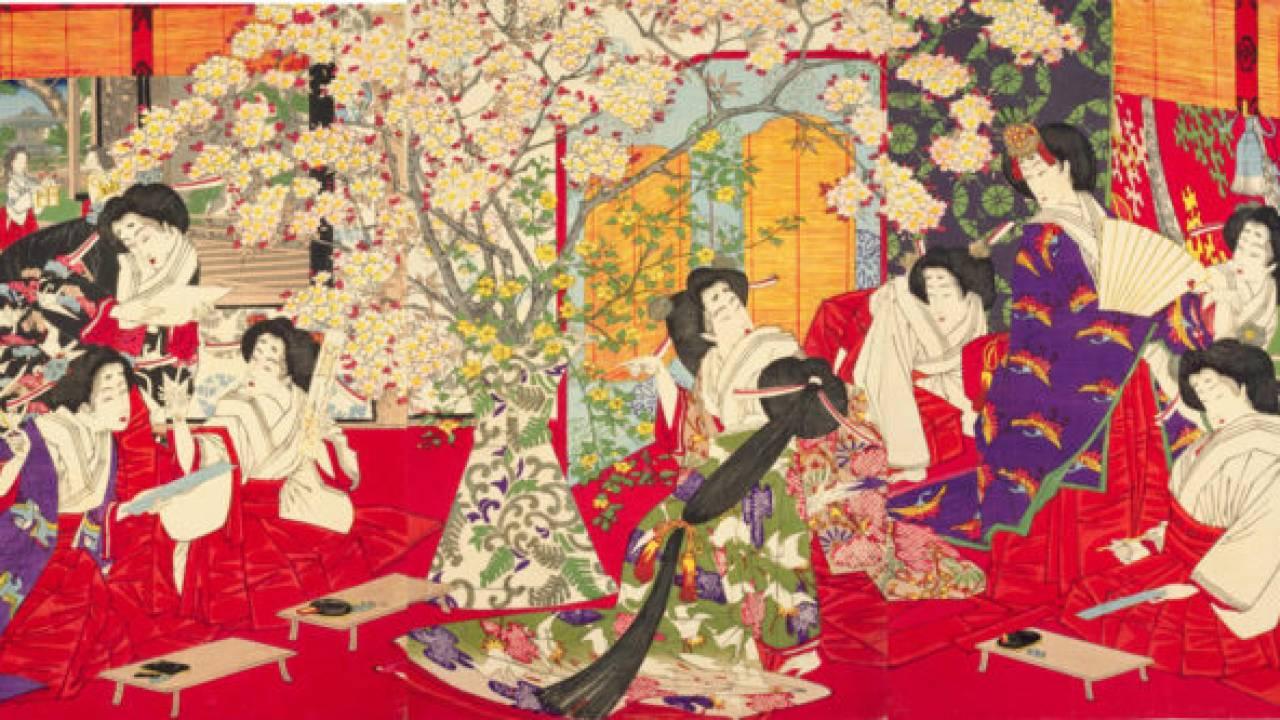 何時の世にも桜は咲き散る。宮中の官女たちが桜を題材に好み楽しんだ「連歌」とは何か?