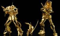 お値段ビックリ!ガンダム&シャア専用ザクIIが24金製の純金像になったよ