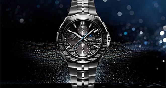 日本が誇る伝統工芸「蒔絵」を施し水のきらめきを表現した腕時計がカシオから登場