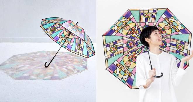 大正時代のレトロな雰囲気を色鮮やかに表現した『大正ロマンなステンドグラスの傘』が発売