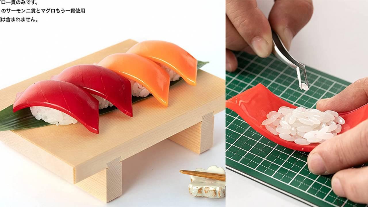 おうち時間に握りたい!シャリ1粒1粒から組み立てる『寿司プラモ』爆誕