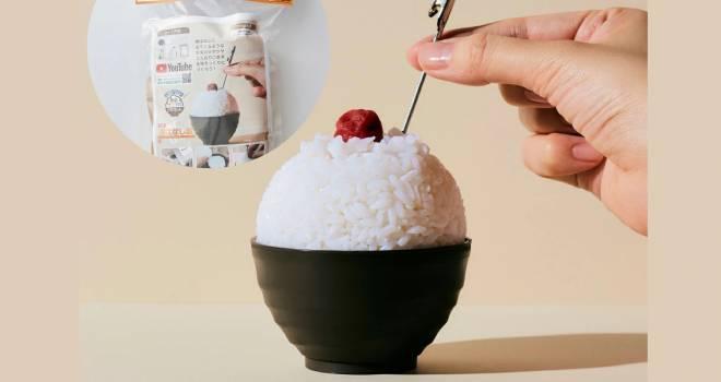 昔ばなしに出てきそうな山盛りご飯の食品サンプル工作キットが発売!メモスタンドになるよ