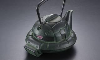 伝統工芸・南部鉄器で作られた質実剛健な『鉄瓶ZAKU(GREEN)』新発売!グリーンになってザクみ倍増