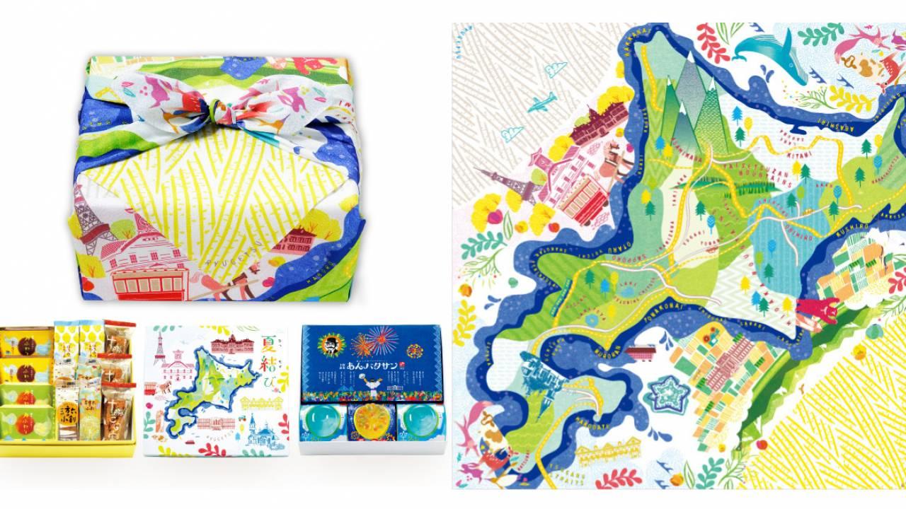 全力北海道!老舗菓子屋・柳月の夏限定ギフト「夏結び」の風呂敷がとっても可愛いよ♡