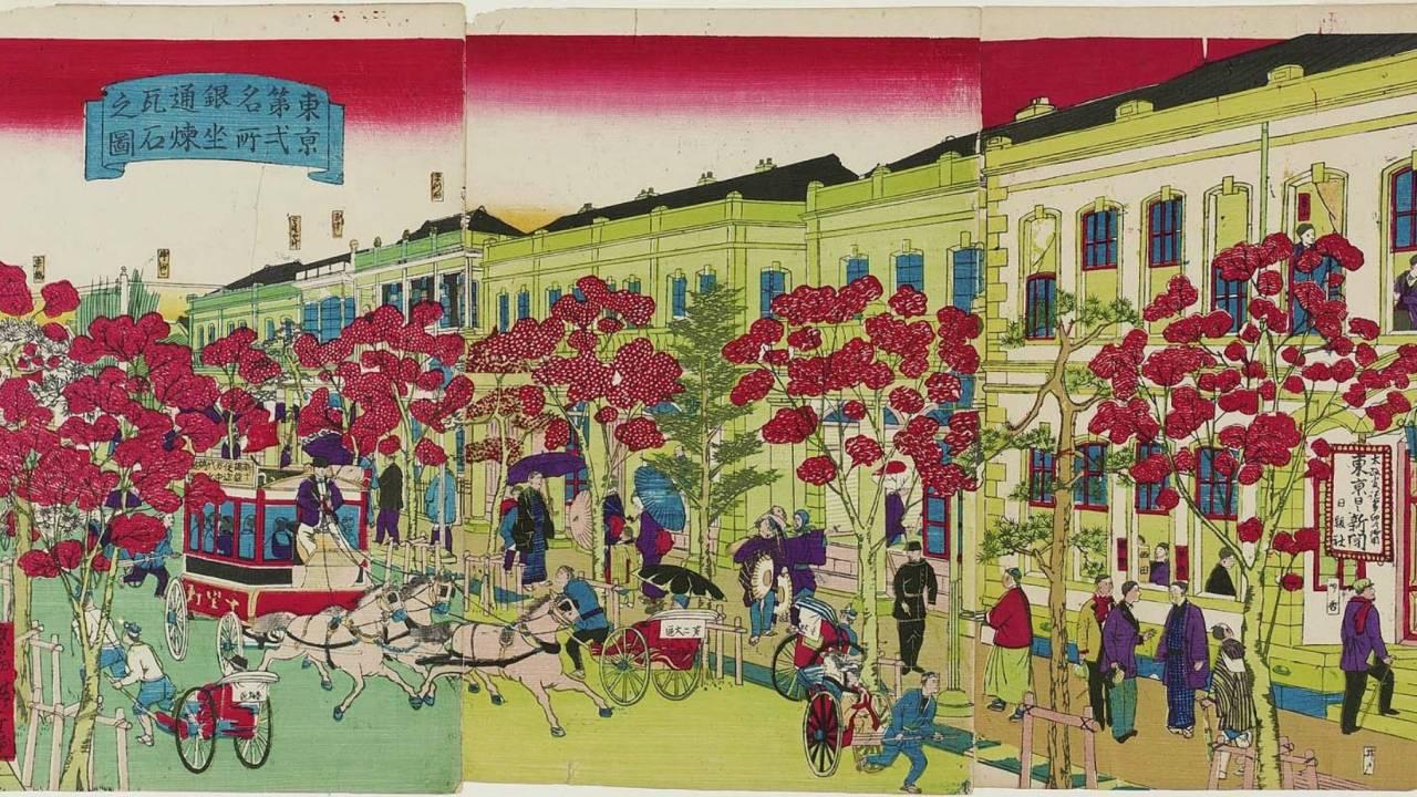 東京 銀座や丸の内、日本橋…浮世絵で見て歩く華やかな明治時代の洋風建築【前編】