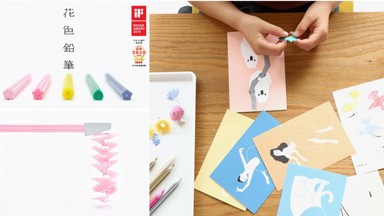 削りカスまでも美しい「花色鉛筆」の削りかすを使って⽴体的な絵が作れる「花⾊鉛筆ペタルアートコレクション」