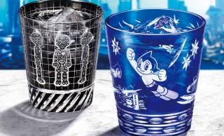数量限定です!アトムのデビュー70周年を記念した、伝統の江戸切子グラスが発売
