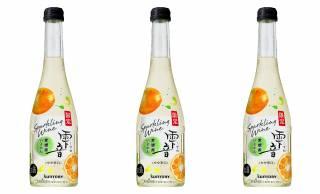愛媛県産のいよかん果汁をブレンドした和スパークリング「雫音(しずね)いよかん」が期間限定発売