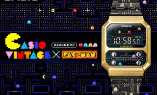 レトロ可愛いが溢れてる!パックマンとカシオがコラボしたデジタルウォッチ『A100WEPC』発売。