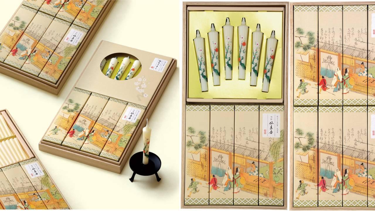ローソクと線香のふたつの老舗メーカーの技術を結集させた美しき『吟撰仙年香進物シリーズ』