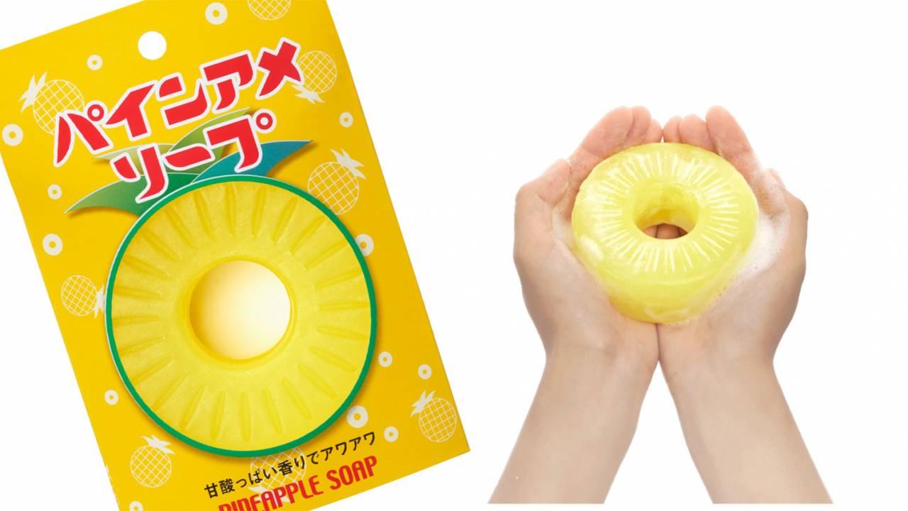 美味しそ〜っ(笑) ロングセラー飴ちゃん「パインアメ」の香り・色・形を再現した石鹸『パインアメソープ』発売