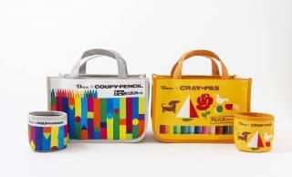 文具ファン必見!サクラクレパスのクーピー柄&クレパス柄トートバッグが新発売。小物入れもセット