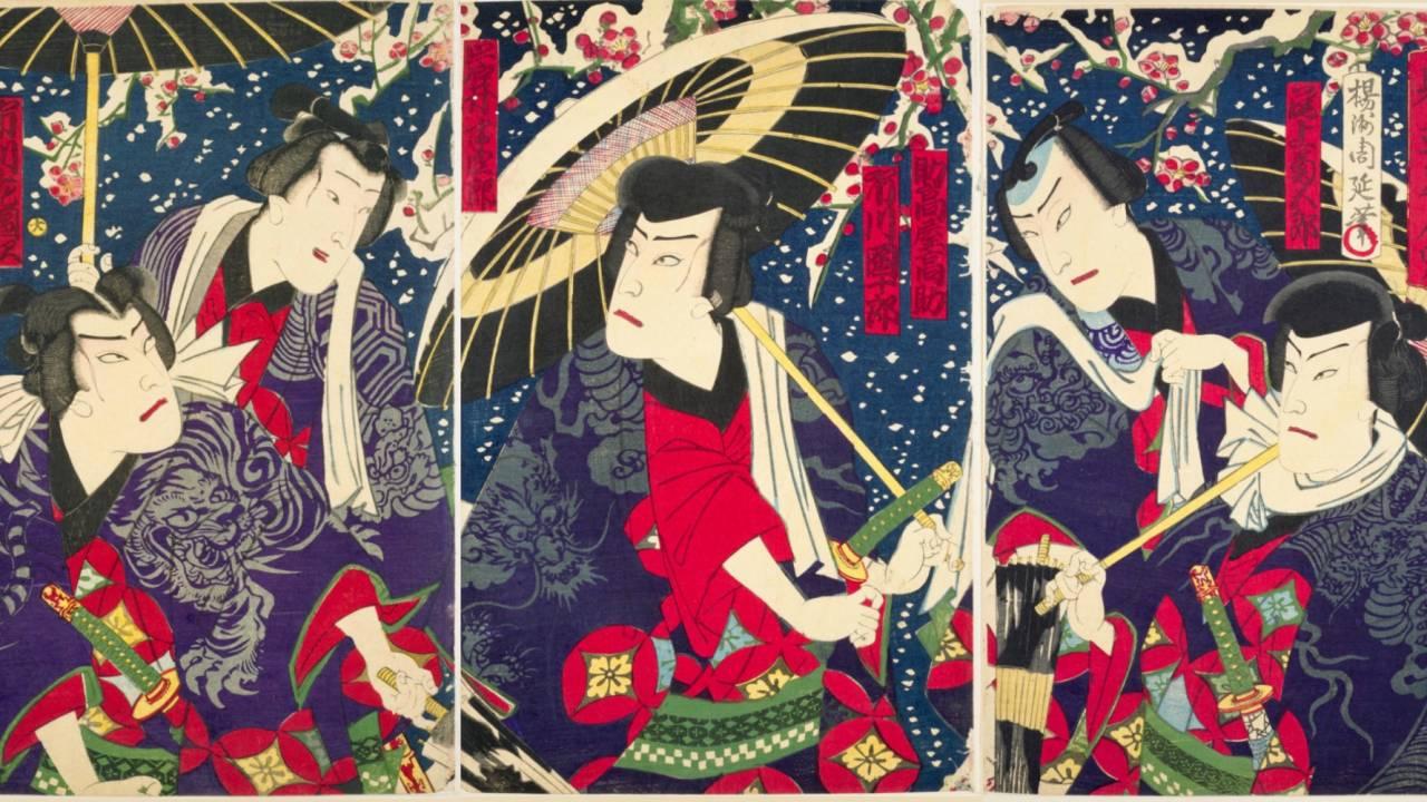 役者が英語を話すことも!西洋との融合を図った明治時代の歌舞伎を錦絵で見る