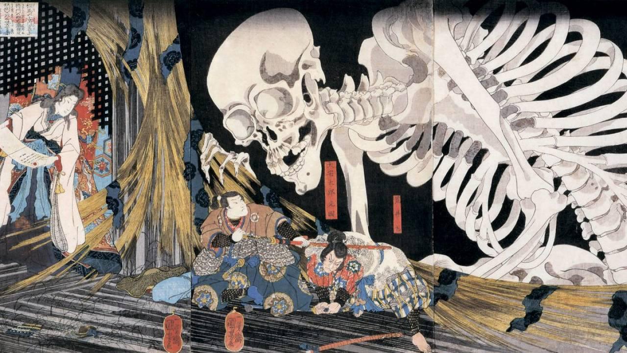 葛飾北斎の妖怪からモフモフ化け猫まで!思わずゾクっとする、浮世絵で見る妖怪たち