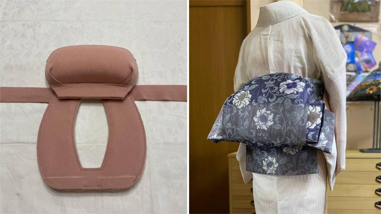 着物を着るとき帯結びがとってもカンタンにできちゃう帯補助具「伊達のおひざ元」