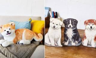 キュートな表情がたまんない♡秋田犬の子犬たちがモフモフなぬいぐるみ&自立ポーチになったよ!